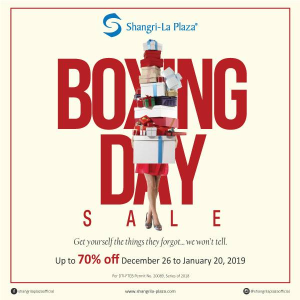 Boxing Day Sale 2019 Poster