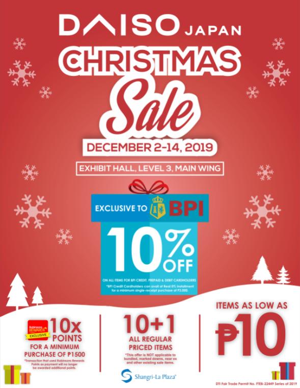 Daiso Christmas Sale Poster