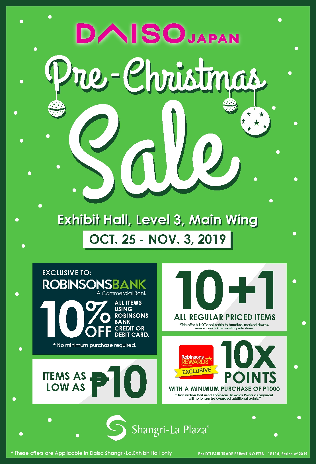 Daiso Japan Pre-Christmas Sale Poster