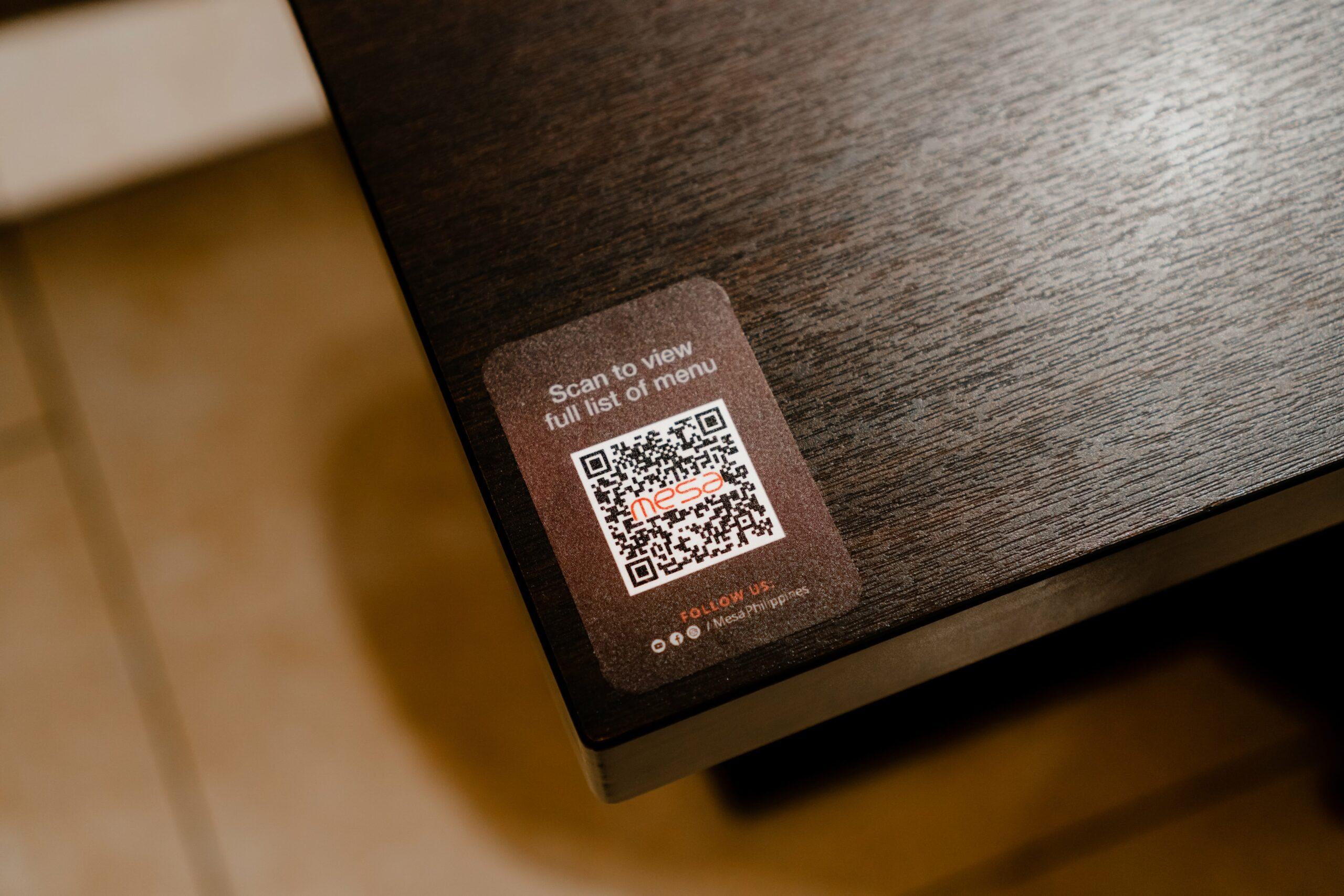 Digital Menu QR Code