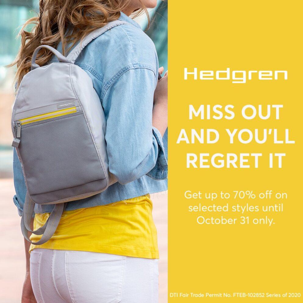 Hedgren 70 Percent Off Promo Poster