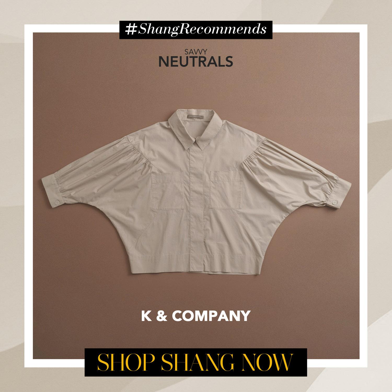 K & Company Nude Blouse