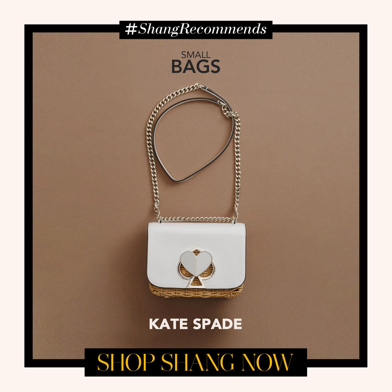 Kate Space White Chain-strap Bag