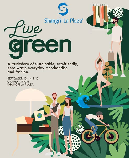 Live Green at the Shang Poster Poster