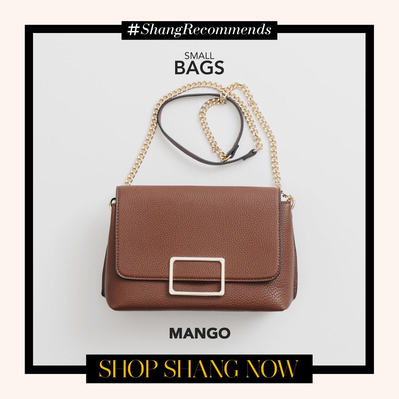 Mango Brown Chain-strap Bag