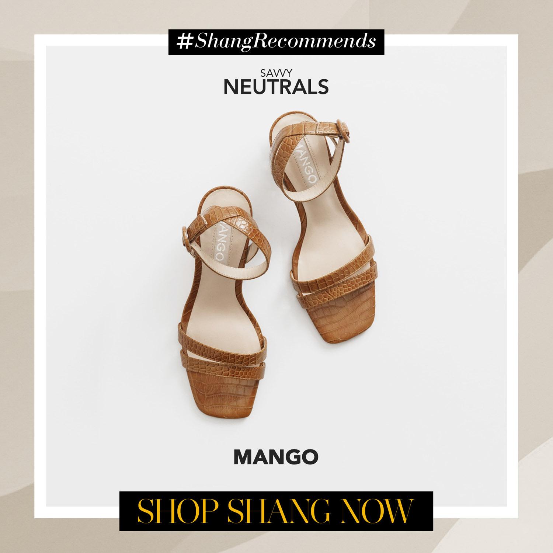 Mango Heel-Strap Shoes