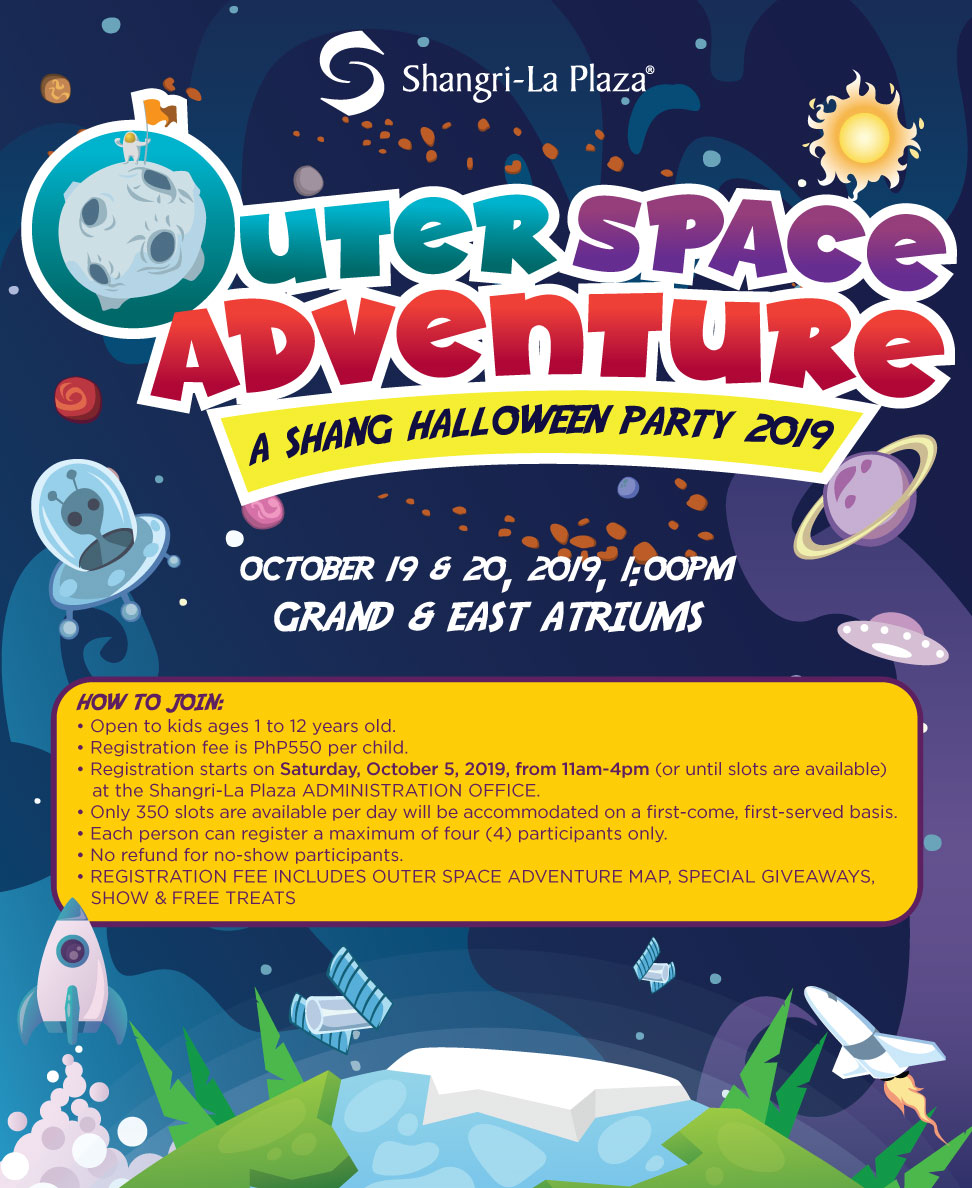 Outer Space Adventure Halloween Party Poster