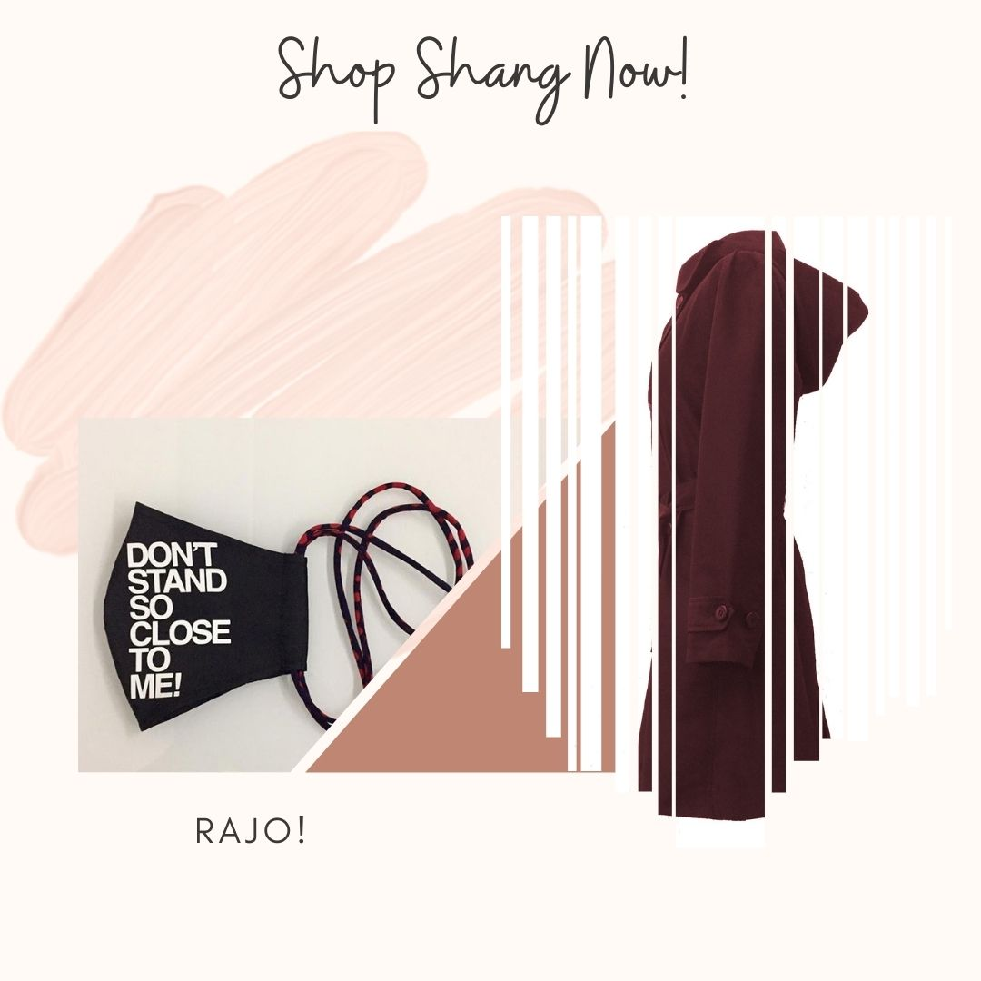 Rajo! Face Mask and Maroon Protective Outerwear