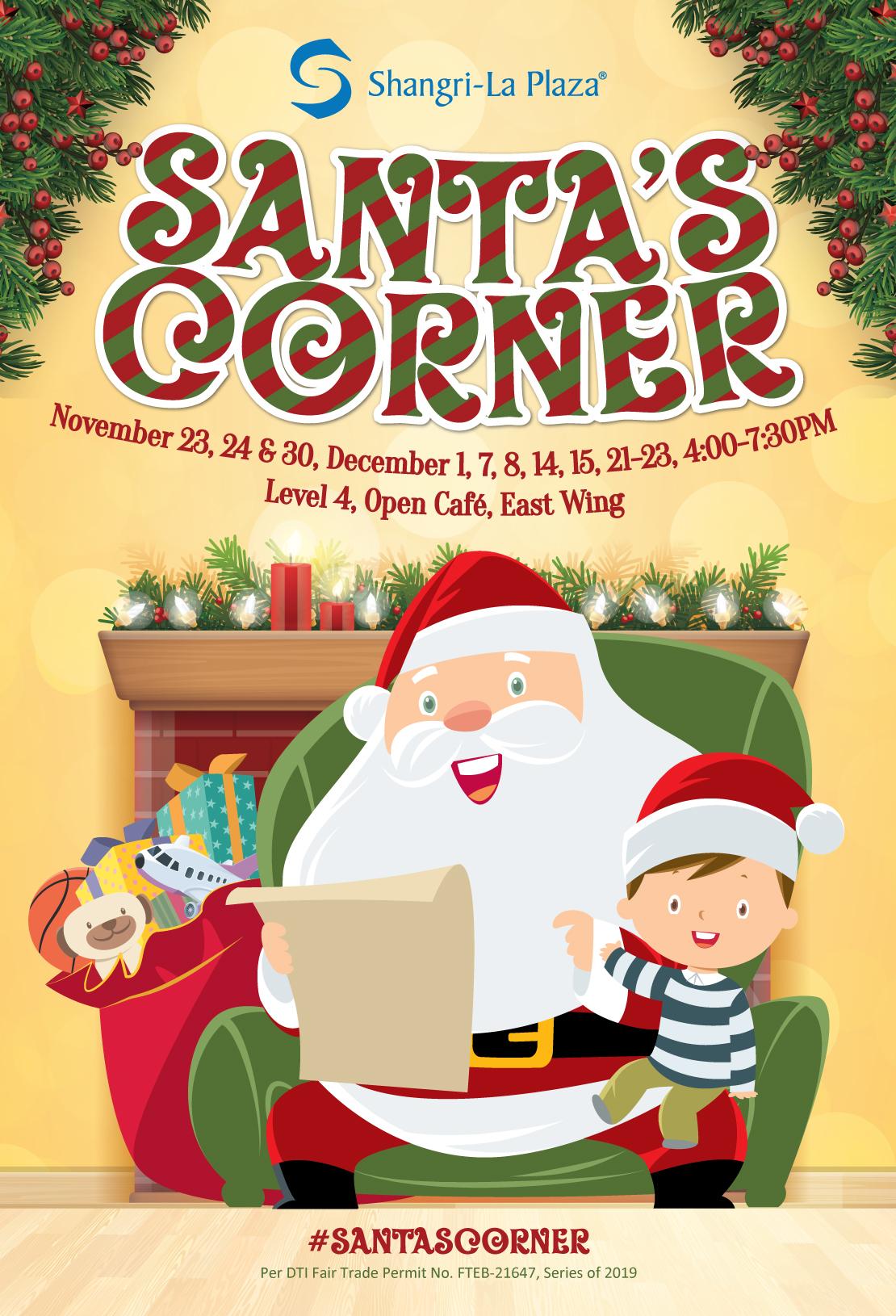 Santa's Corner Poster