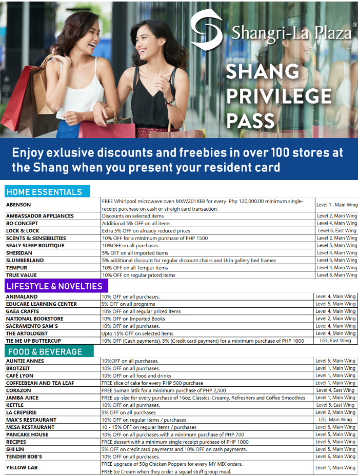 Shang Privilege Pass Poster