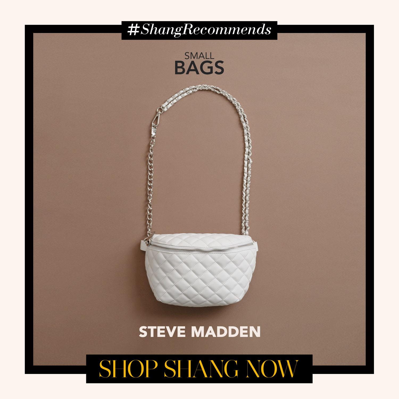 Steve Madden White Crossbody Chain-strap Bag