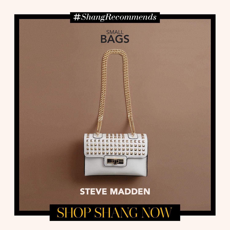 Steve Madden White Foxy Chain-strap Bag