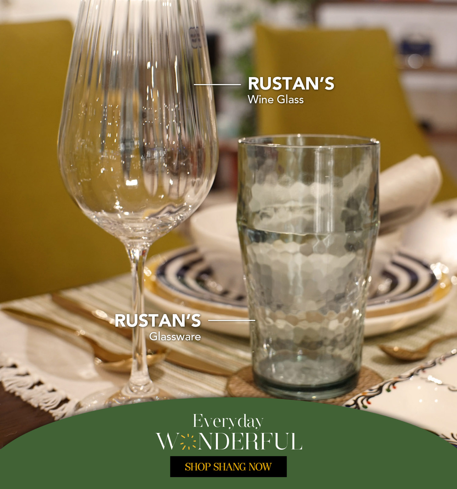 Drinking Glassware and Wine Glass from Rustan's