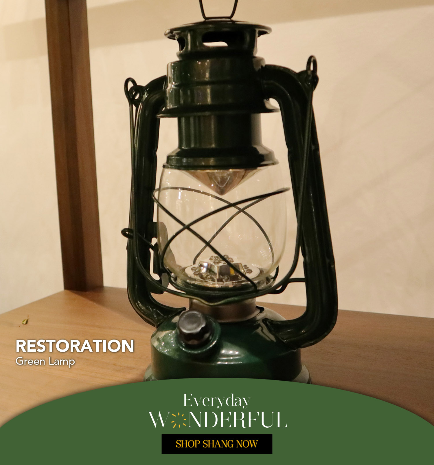 Green Lantern Lamp from Restoration