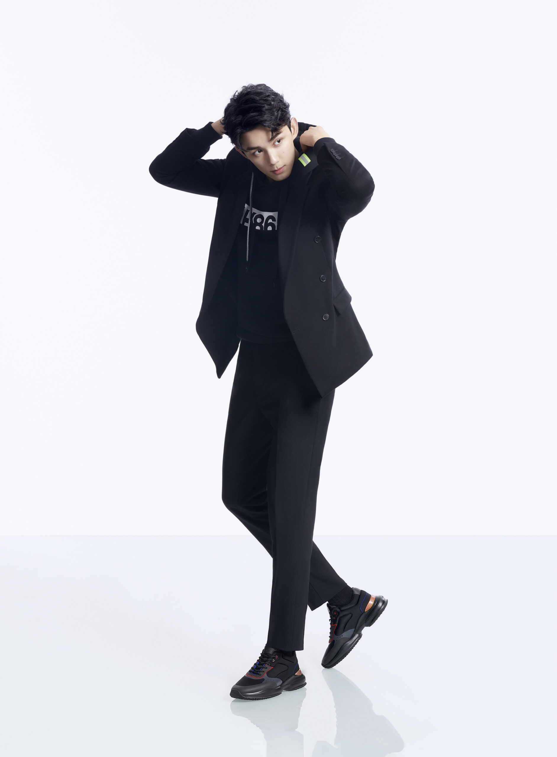 HOGAN WU LEI Black Interaction Sneakers