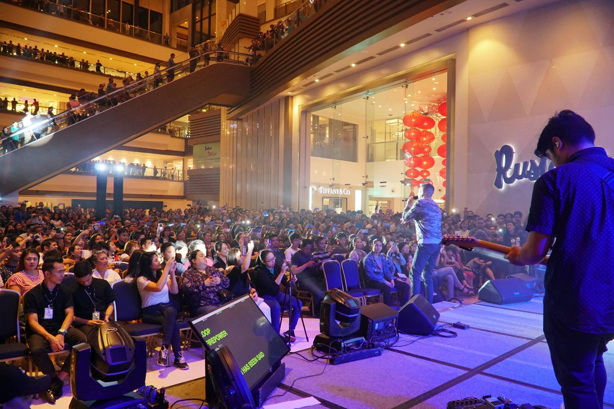 A man singing at a Shangri-La Plaza event