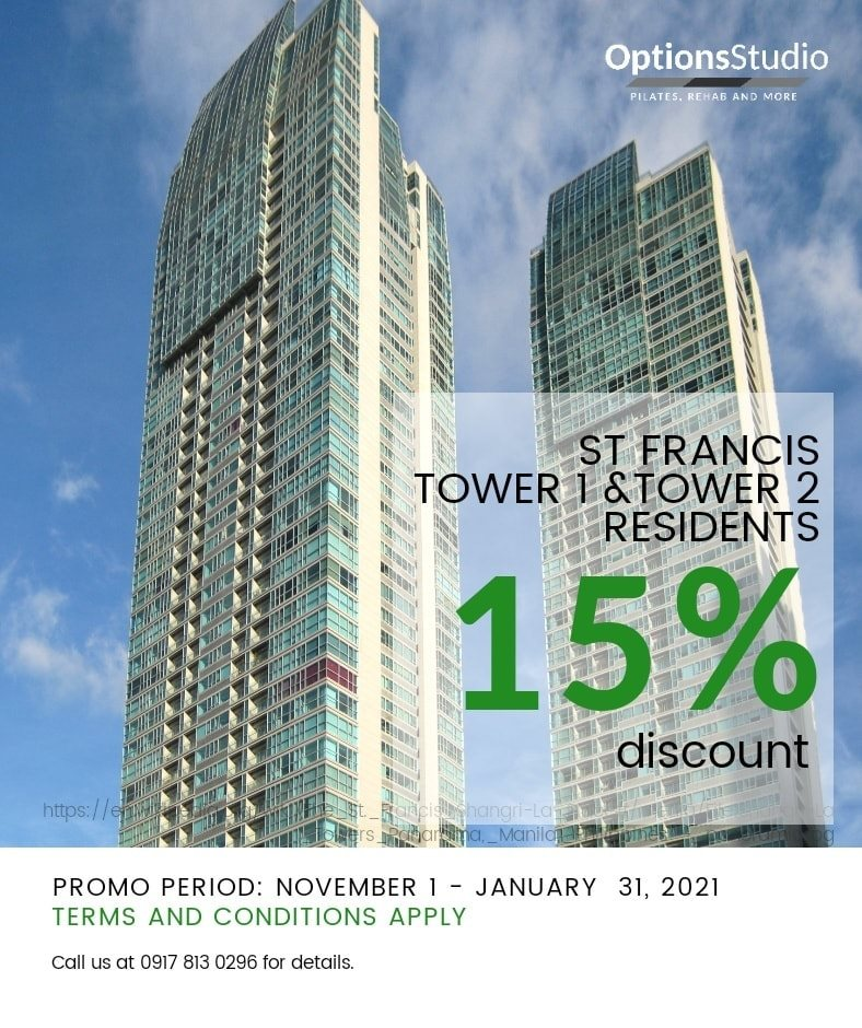 Options Studio Promo St. Francis Tower 1 and 2