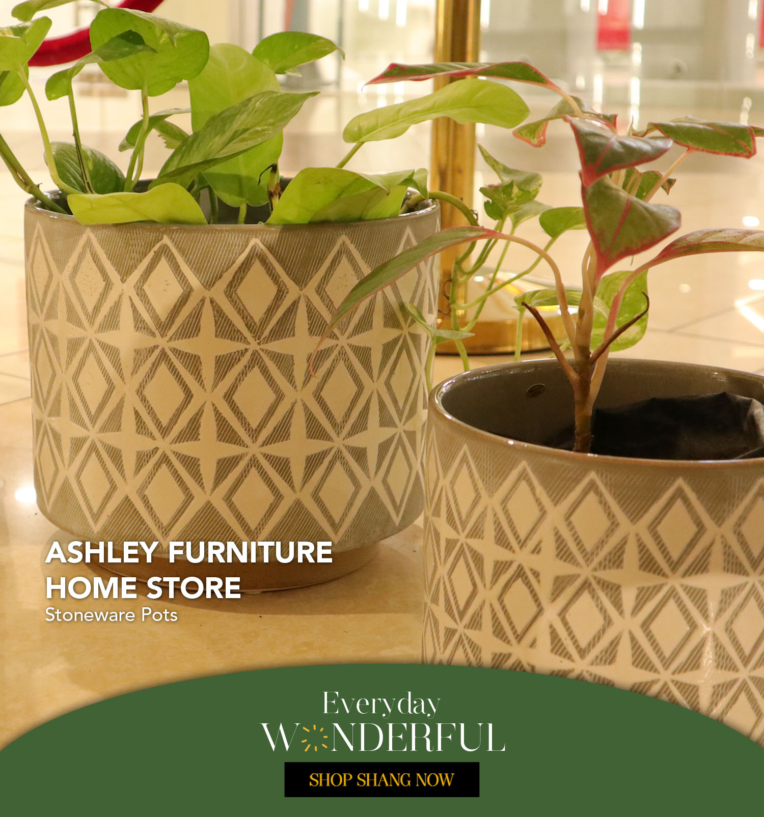 Stoneware Pots from Ashley Furniture Home Store