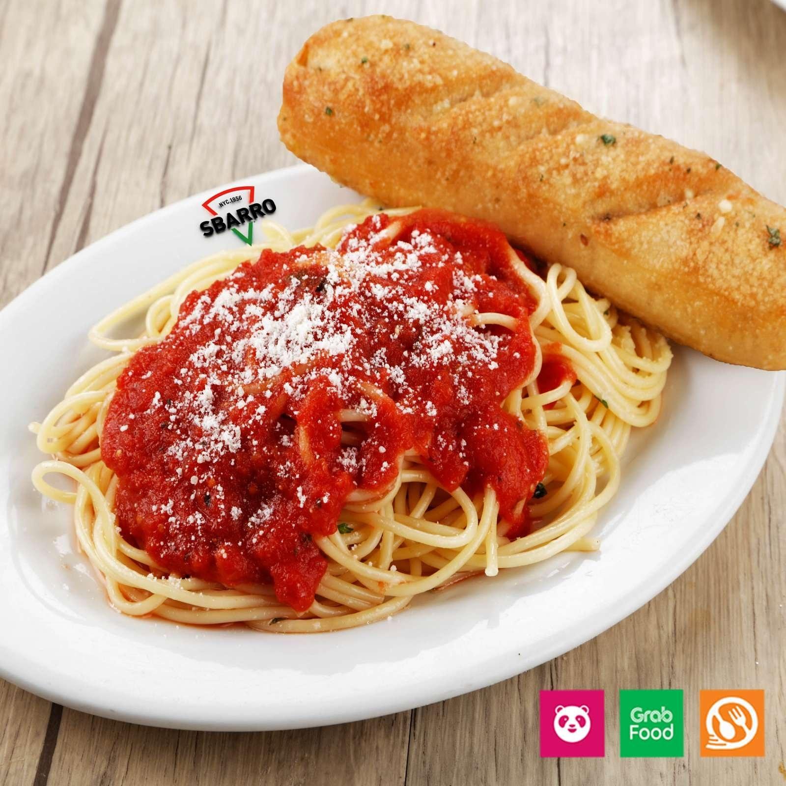 Sbarro's spaghetti with meat sauce