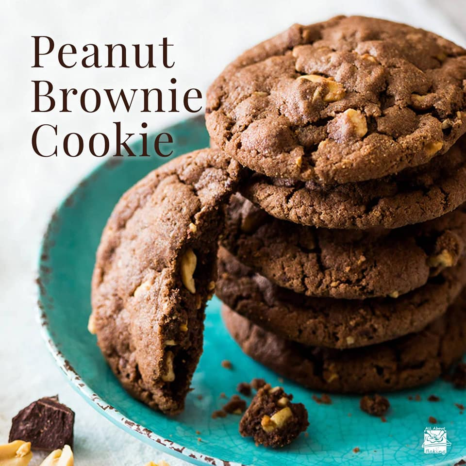 Peanut Brownie Cookie Recipe from All About Baking