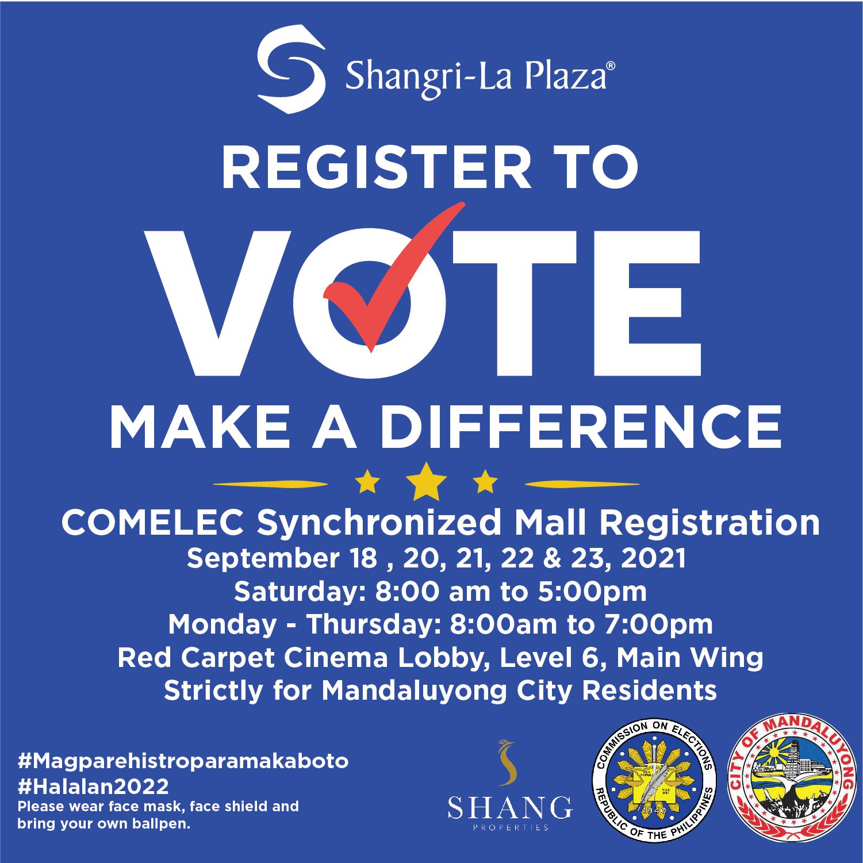 Synchronized Mall Satellite Voter's Registration